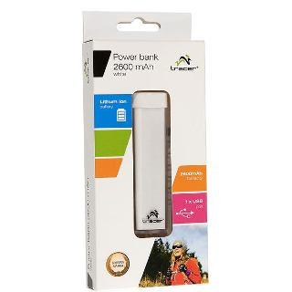 TRACER - Power Bank 2600 mAh biela